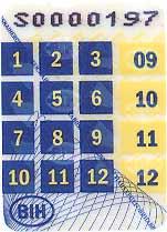 Registarske tablice u Bosni i Hercegovini - Vanjski stiker